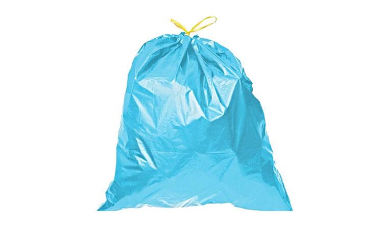 E801 Orta Boy Mavi Büzgülü Çöp Torbası