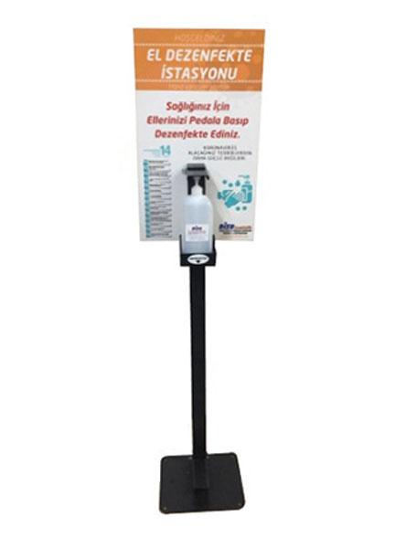 İşyerleri için Ayaktan Pedallı Dezenfektan Standı
